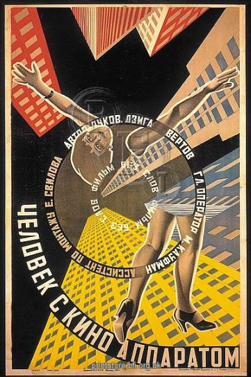 Poster for Dziga Vertov's Man With A Movie Camera (1928)